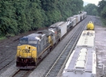 CSX 80 on Q317, passing the small yard
